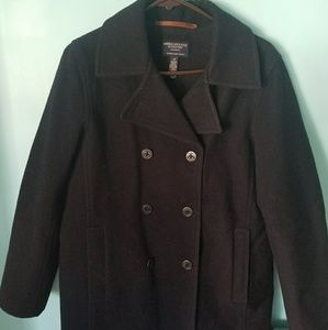 American Eagle navy pea coat